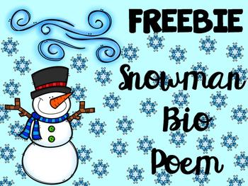 Snowman Bio Poem FREEBIE