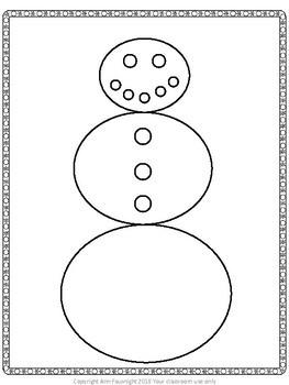Snowman Bioglyph Craftivity