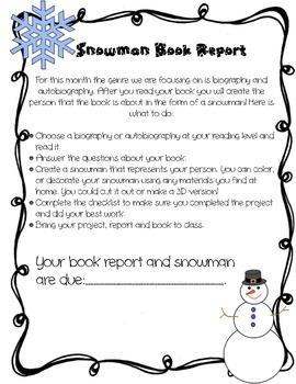 Snowman Biography Book Report