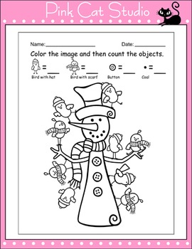 Winter Math: Snowman Numbers and Counting Practice