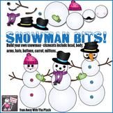 Snowman Bits! Build Your Own Snowman Clip Art