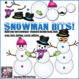 Snowman Bits! Build Your Own Snowman Clip Art