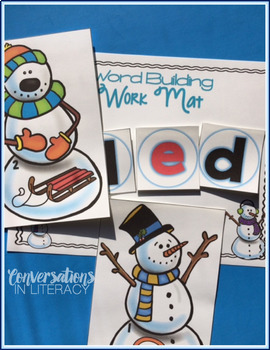 Snowman Blends and Digraphs Word Work Activities