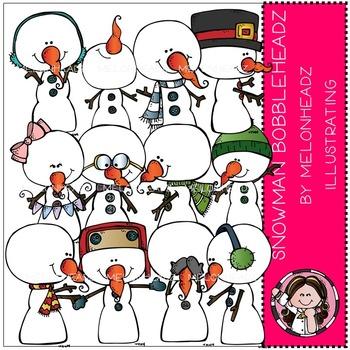 Snowman  clip art - Bobbleheadz - by Melonheadz