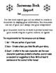 Snowman Book Report (w/ rubric)