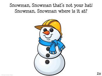 Snowman Book Speech Therapy