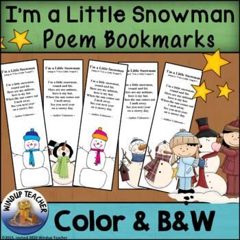 Snowman Bookmarks