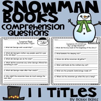 Snowman Books Comprehension Questions