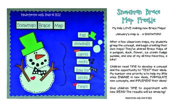 Snowman  Brace  Map  Freebie