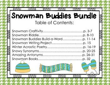 Snowman Buddies Literacy Bundle