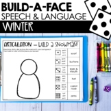 Snowman Build A Face for Articulation & Language