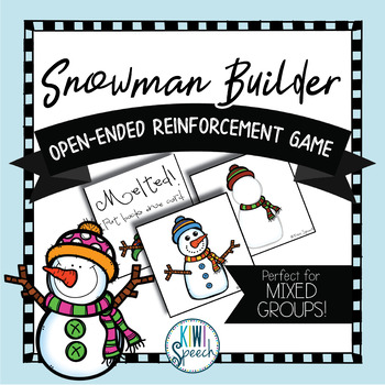 Snowman Builder: Open Ended Reinforcement Game: Great for Speech and Language