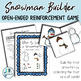 Snowman Builder: Open Ended Reinforcement Game for Mixed Speech Therapy Groups