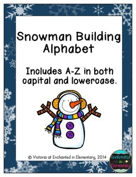 Snowman Building Alphabet! Letter and Sound Recognition Game