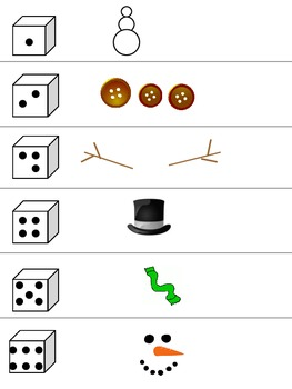 Snowman Building / Drawing Dice Game