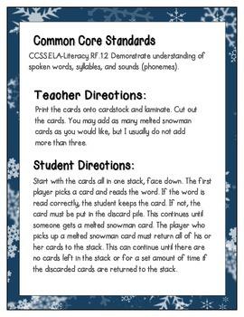 Snowman Building Phonics: CVC Words Pack