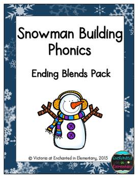 Snowman Building Phonics: Ending Blends Pack