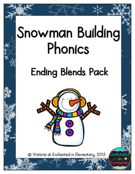 Snowman Building Phonics: Ending Blends Pack