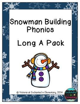 Snowman Building Phonics: Long A Pack