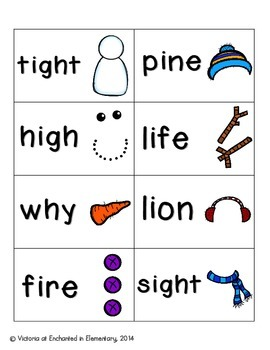 Snowman Building Phonics: Long I Pack