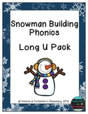 Snowman Building Phonics: Long U Pack