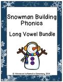 Snowman Building Phonics: Long Vowel Bundle