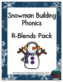 Snowman Building Phonics: R-Blends Pack