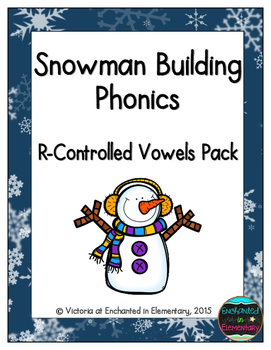 Snowman Building Phonics: R-Controlled Vowel Words Pack