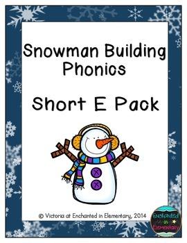 Snowman Building Phonics: Short E Pack