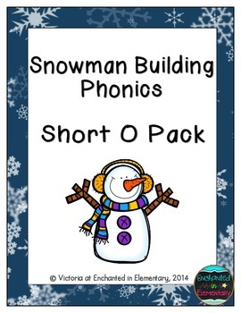 Snowman Building Phonics: Short O Pack