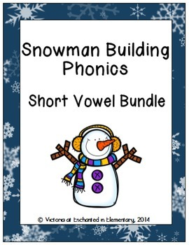 Snowman Building Phonics: Short Vowel Bundle