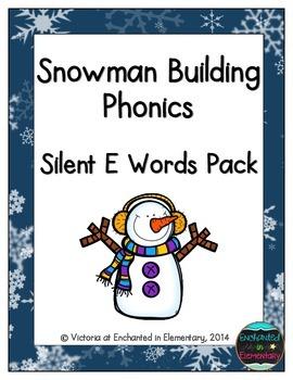 Snowman Building Phonics: Silent E Words Pack