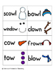 Snowman Building Phonics: Vowel Digraphs and Diphthongs Pack 1: ow, ou, oo, ew