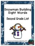 Snowman Building Sight Words! Second Grade List Pack