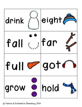 Snowman Building Sight Words! Third Grade List Pack