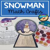 January Crafts: Math Snowman Activities Bundle
