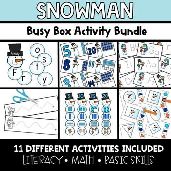 Snowman Busy Boxes **BUNDLE**