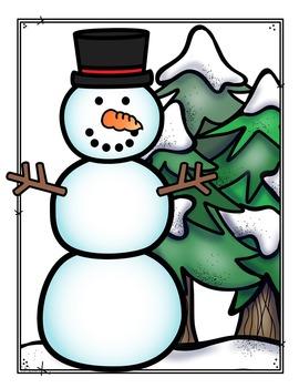Snowman Button Addition