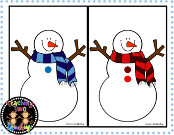 Snowman Button Count Hat Matching Activity