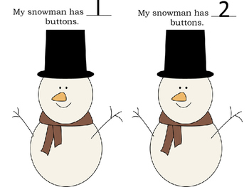 Snowman Button Counting Book