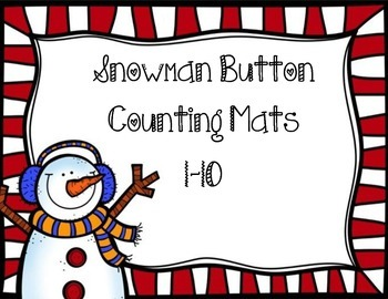 Snowman Button Counting Mats