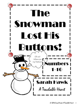 Snowman Buttons Game Counting 1-10