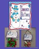 Snowman Buttons Gift Topper