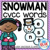 Snowman CVCC Word Building Activity
