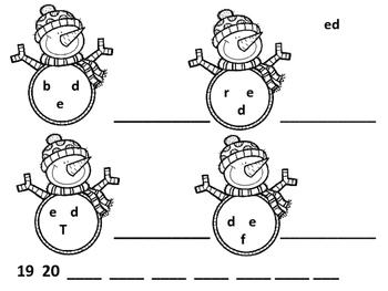 Snowman CVC Mix and Fix