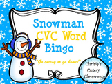 Snowman CVC Word Bingo