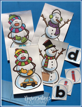 Snowman CVC Word Work Activities
