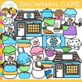 Snowman Cafe Winter Clip Art