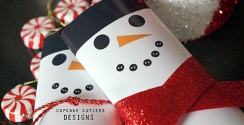 Snowman Candy Wrappers Favor Hand out Classroom Party Favor Printable