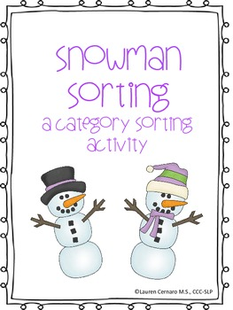 Snowman Category Sorting